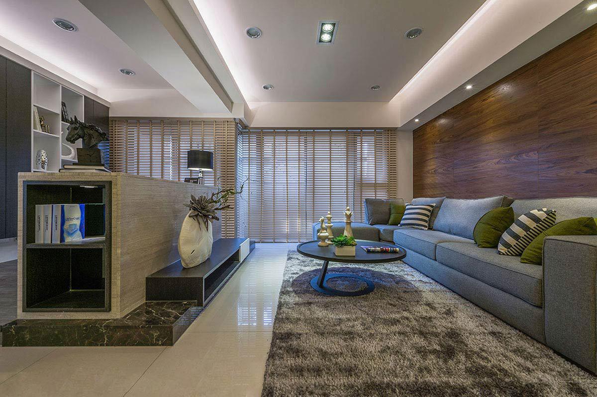优雅现代港式设计客厅吊顶装饰大全