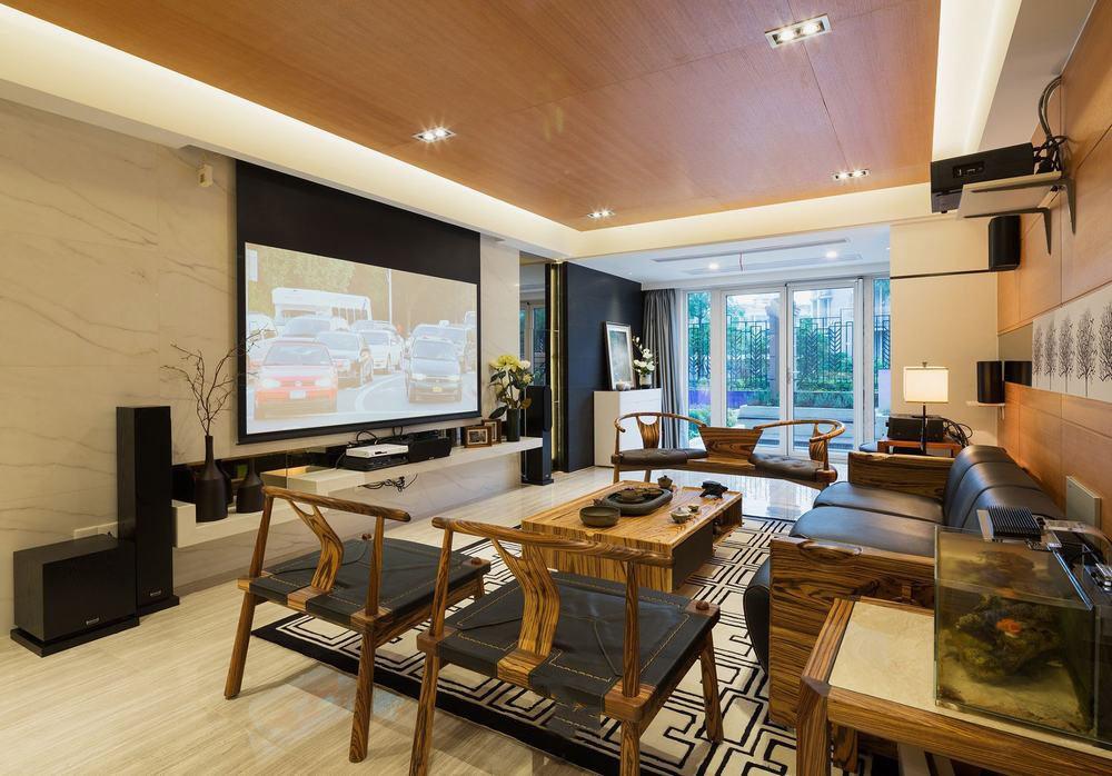 奢华现代新中式设计客厅影视墙装饰大全
