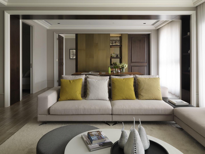 时尚精致现代宜家风格客厅沙发效果图