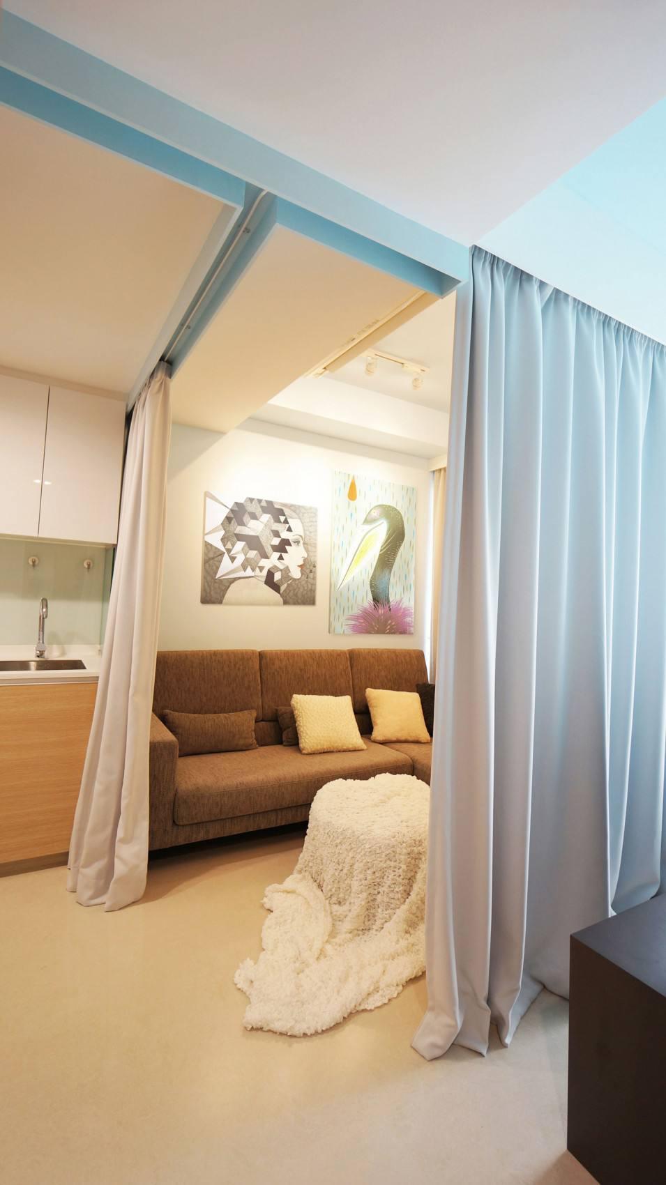 清新舒适简约公寓沙发装饰效果图