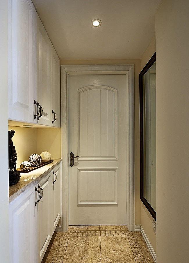 清新简约美式风格玄关白色鞋柜设计
