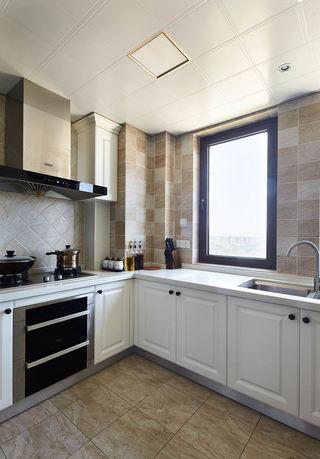 温馨浅咖美式风格厨房装饰效果图