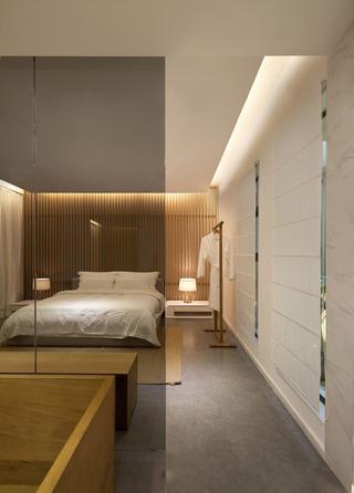 时尚温馨简约现代风卧室过道效果图