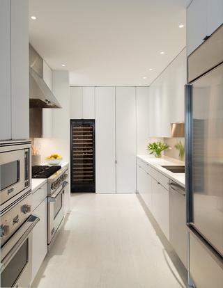 时尚纯净现代高端厨房设计效果图