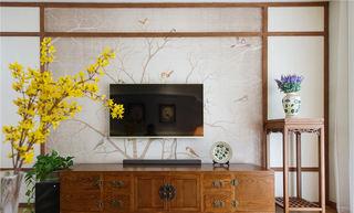 简中式家装花架设计