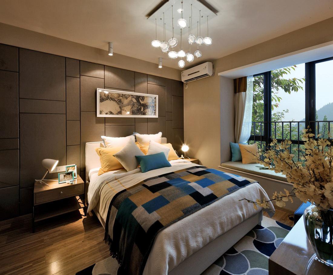 时尚精致美式卧室带飘窗设计大全