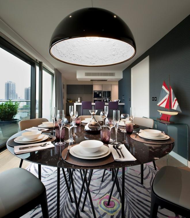 摩登伦敦风情混搭餐厅设计