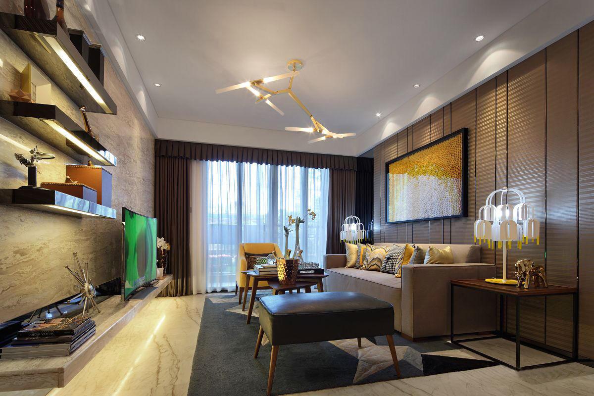 精致典雅美式风格客厅装修图