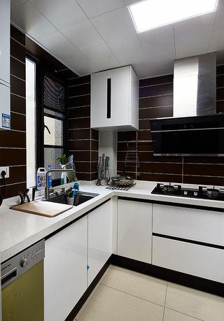 咖色现代北欧厨房混搭设计效果图