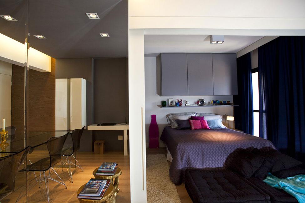 时尚现代风卧室餐厅隔断设计效果图