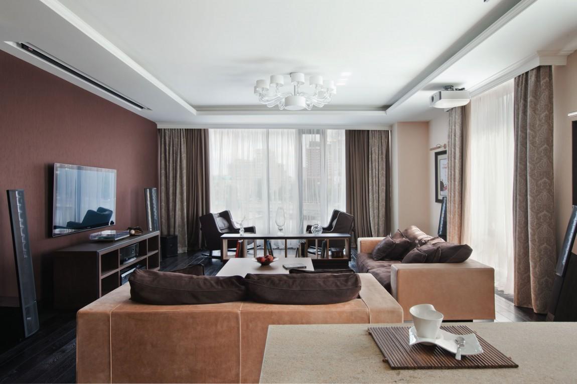 美式风格 客厅石膏吊顶效果图