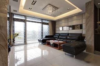时尚现代客厅真皮沙发装饰效果图