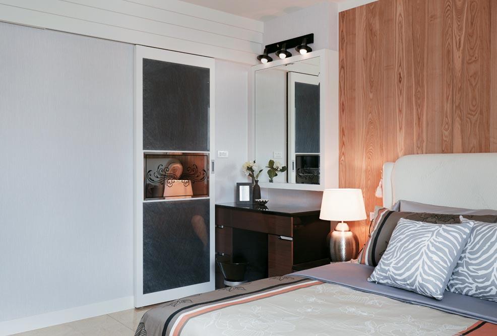 时尚简约现代风卧室衣柜效果图