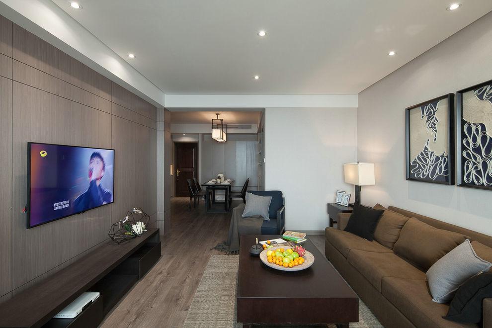 质朴现代装修风格三居室效果图