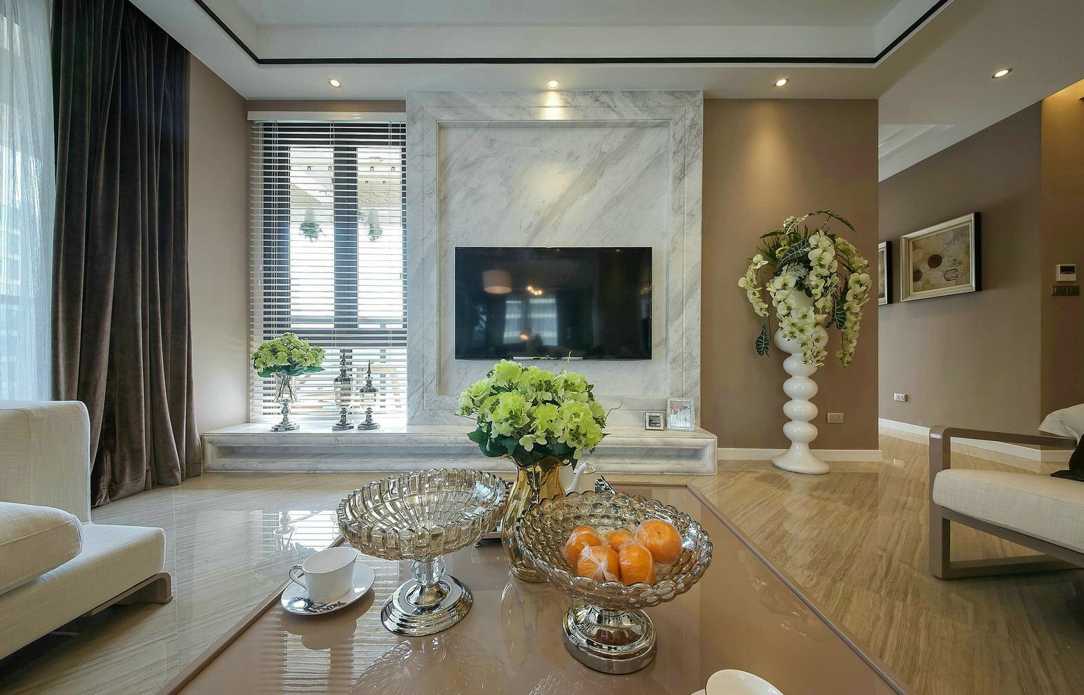现代简约客厅果盆装饰效果图