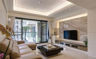 5万半包简欧设计现代装修二居室装潢案例图
