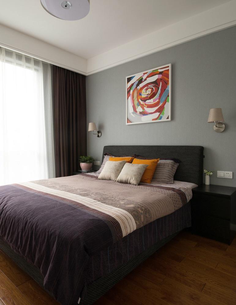 现代简约卧室油画装饰