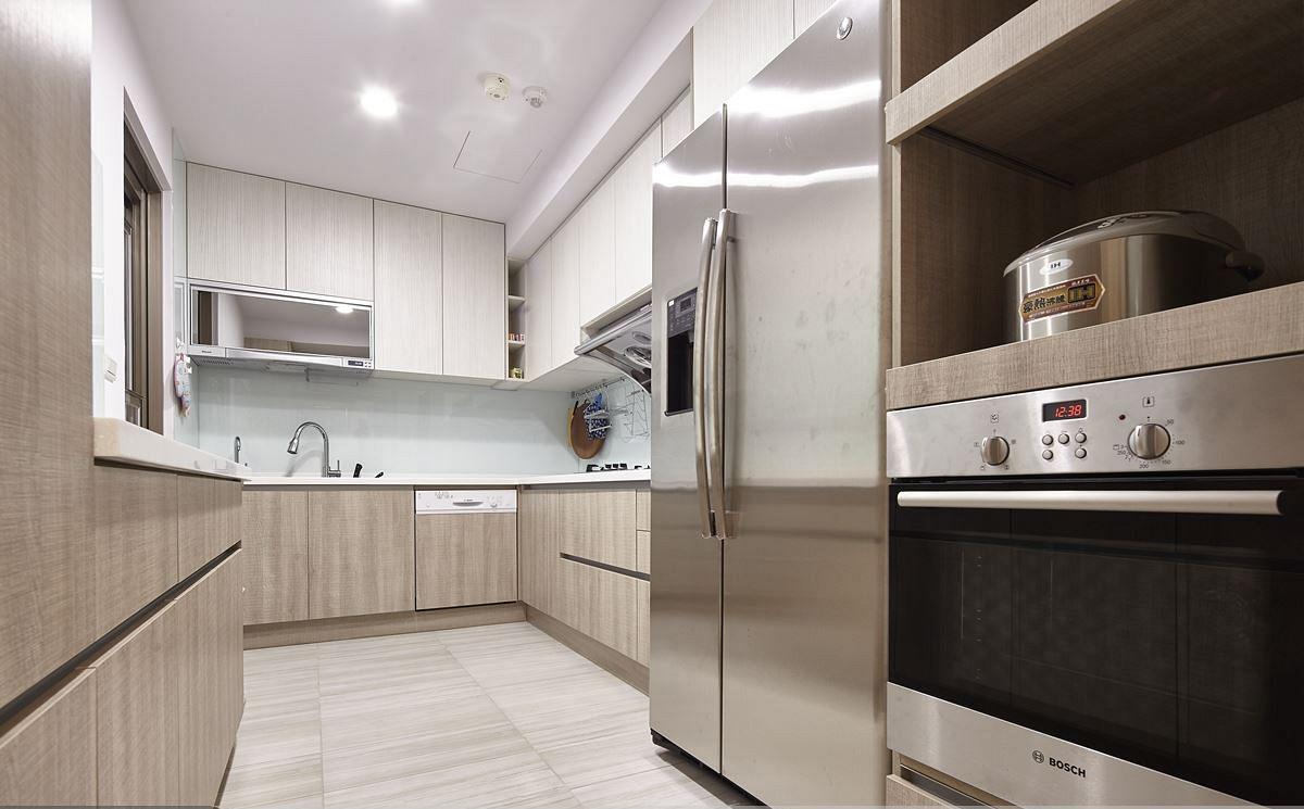 简约现代厨房整体橱柜装饰效果图