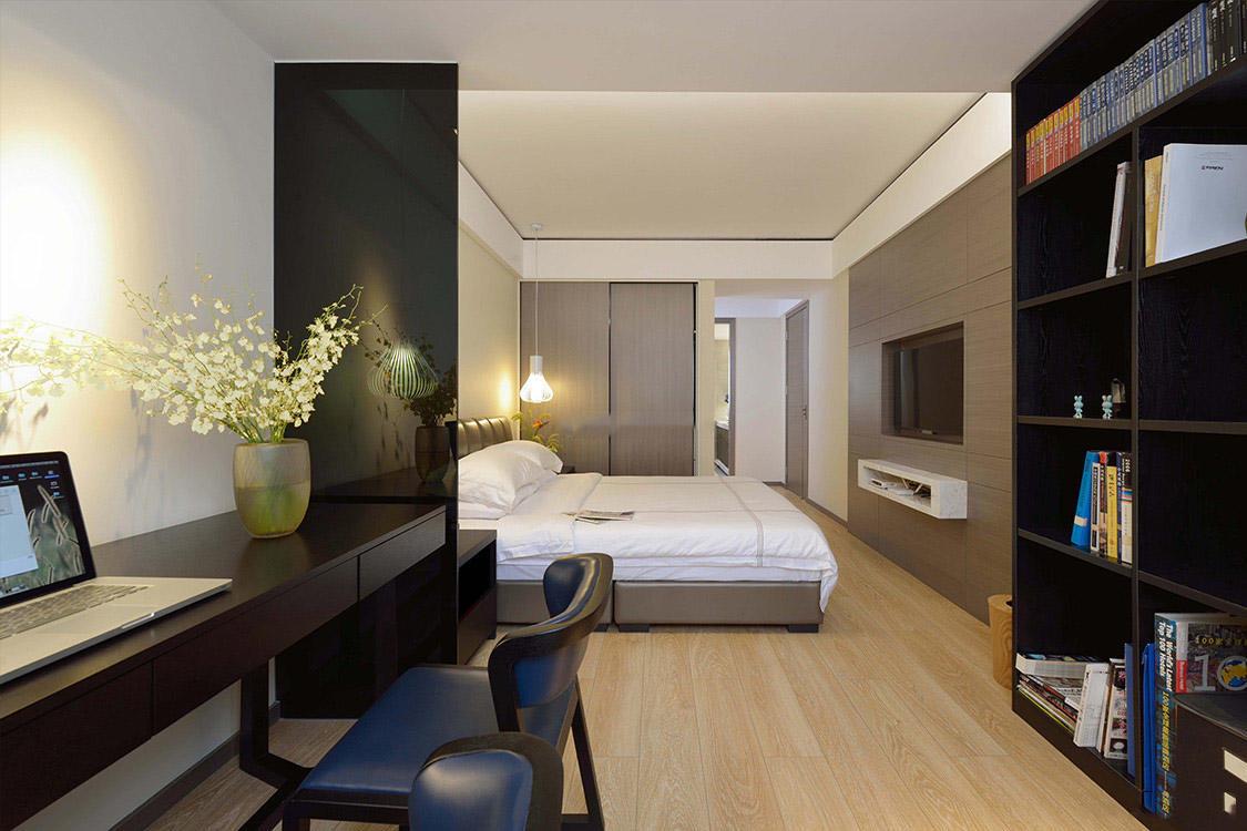 时尚现代日式风格卧室书房设计