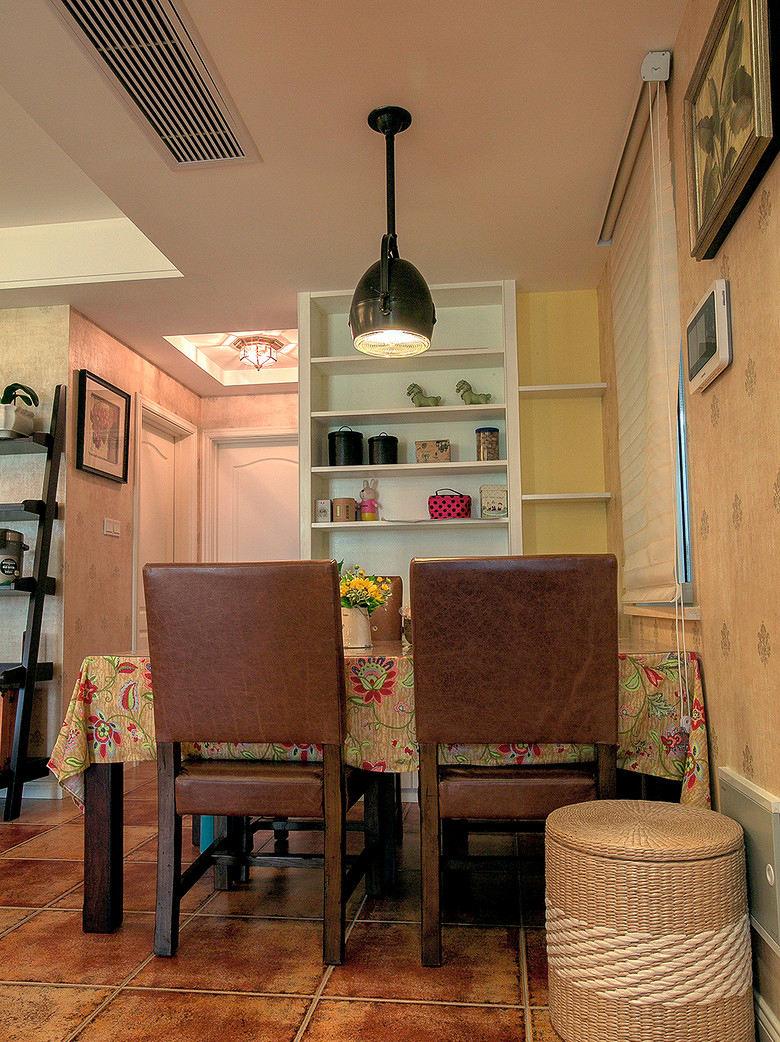 乡村田园风餐厅展示柜隔断设计