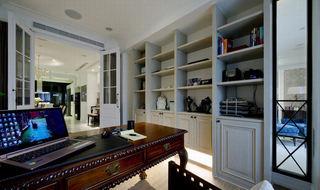 复古北欧风格混搭书房整体书柜效果图