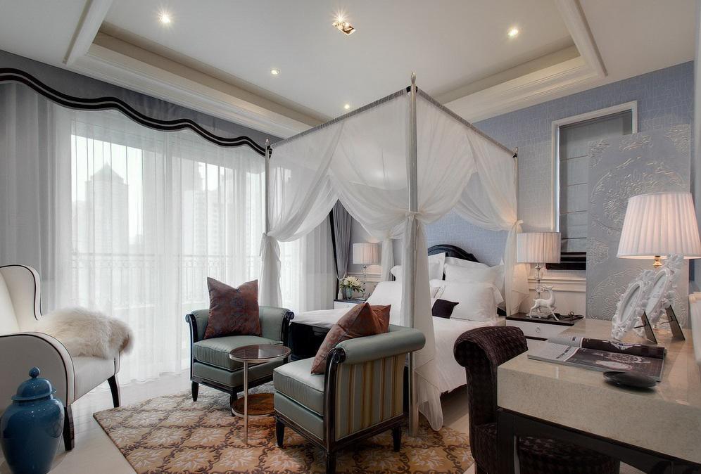 新古典装饰风格卧室软装装饰欣赏图