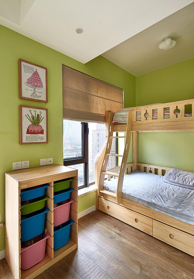 可爱果绿色美式宜家风儿童房设计效果图