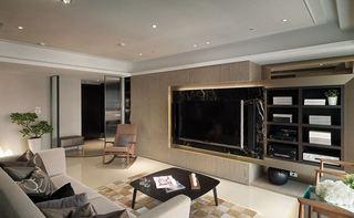 质感美式客厅电视背景墙欣赏