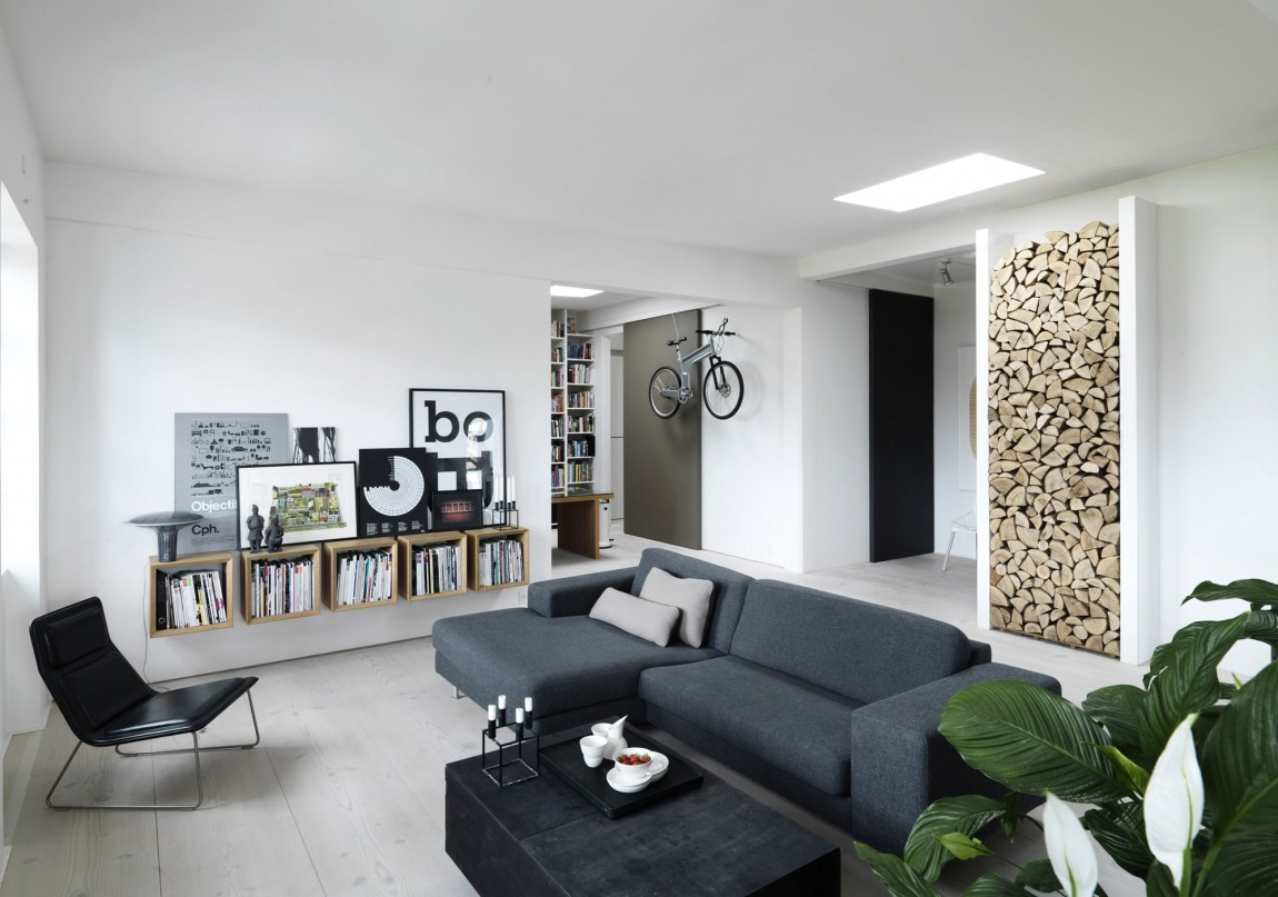 时尚摩登北欧客厅置物柜设计装修图