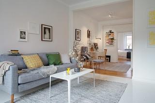 60平米小户型清新北欧装饰风格装潢效果图
