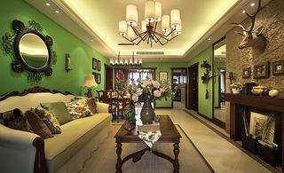 怀旧美式装修风格120平三居室装潢案例图