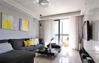 68平个性后现代简约二居装潢设计欣赏