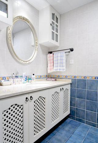 经典复古美式卫生间洗手台装饰设计