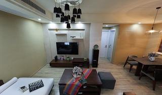 58平休閑簡約宜家風兩室一廳裝潢設計