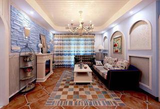简约地中海装修风格客厅吊顶设计图