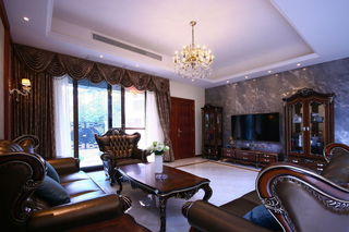 古典豪华欧式风格客厅装修欣赏图