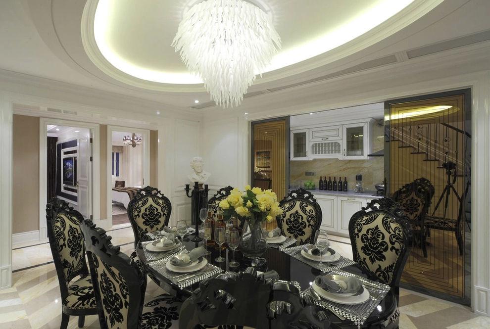 豪华欧式新古典复式餐厅装潢设计