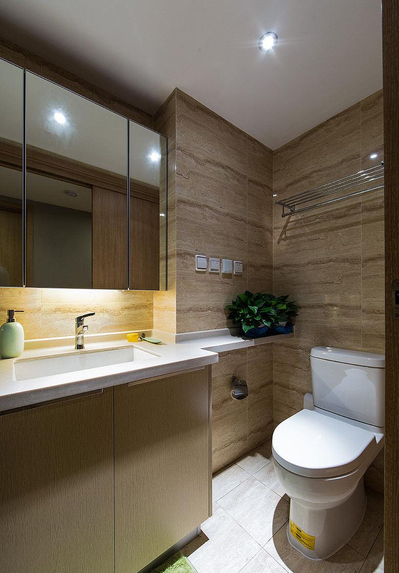 时尚简约现代卫生间室内装修图