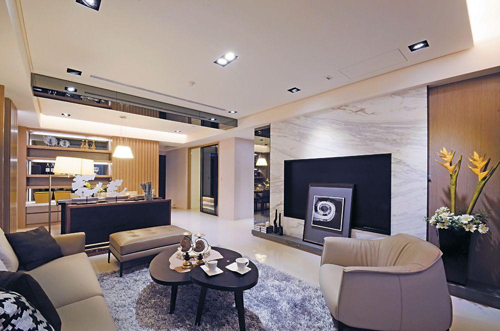 简约现代设计三居室装修图片