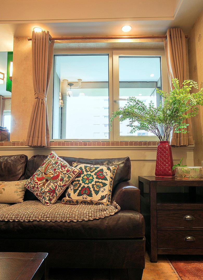 温馨简约田园风客厅窗户设计效果图