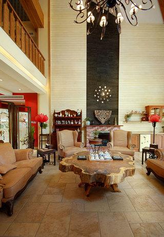 质朴中式装修风格别墅室内设计装潢图