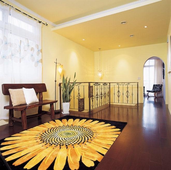 清新浪漫东南亚楼梯过道装饰效果图