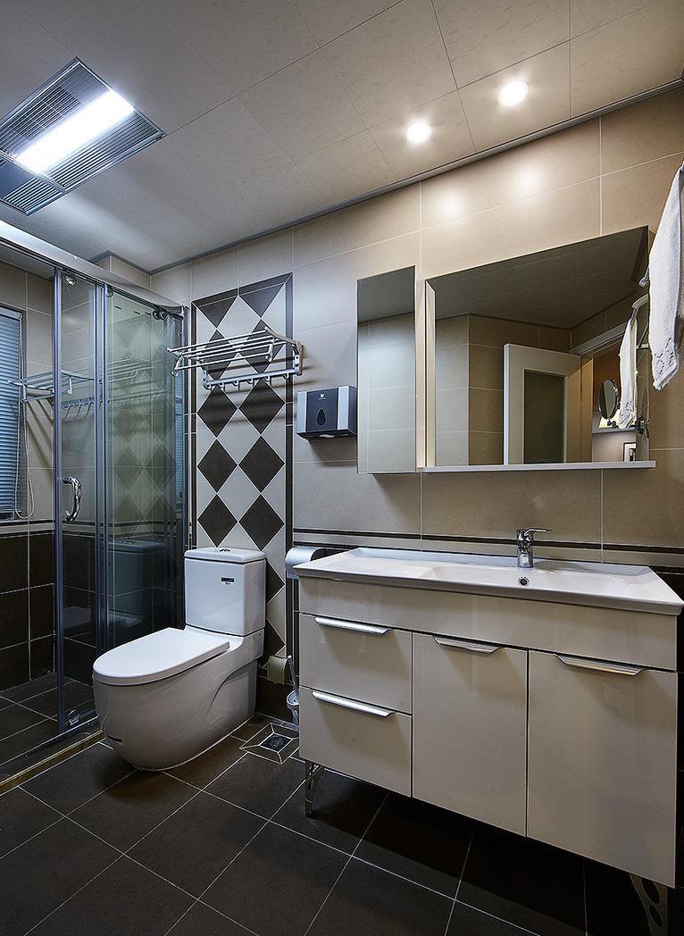 时尚现代整体卫生间装修设计图
