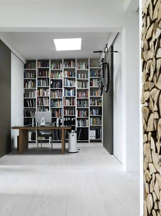 简约收纳北欧书房书柜设计