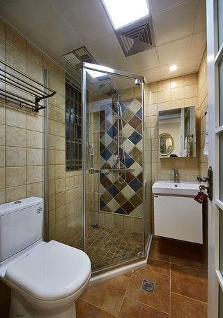 复古美式卫生间马赛克淋浴房背景墙装饰