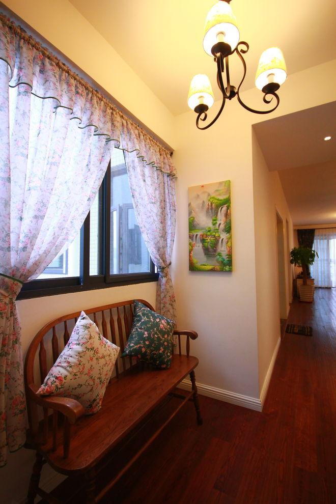 美式家居室内玄关窗帘装饰效果图