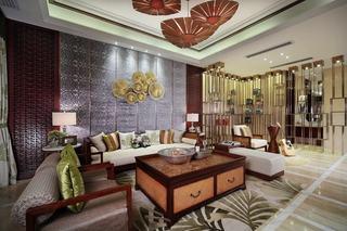 130平打造高雅东南亚风情三室两厅美宅