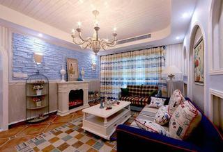 10萬全包三室兩廳地中海風格裝修樣板房