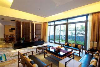 黄色装饰现代中式风格别墅室内效果图