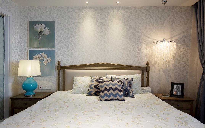 简约美式卧室灯具效果图